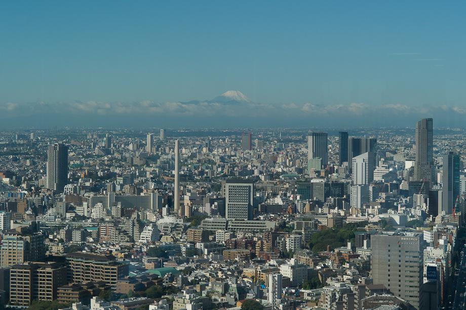 Mt Fuji viewed from Tokyo