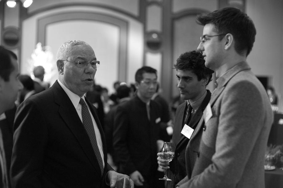 Colin Powell, Joe Poch and Jeremy Stoppelman