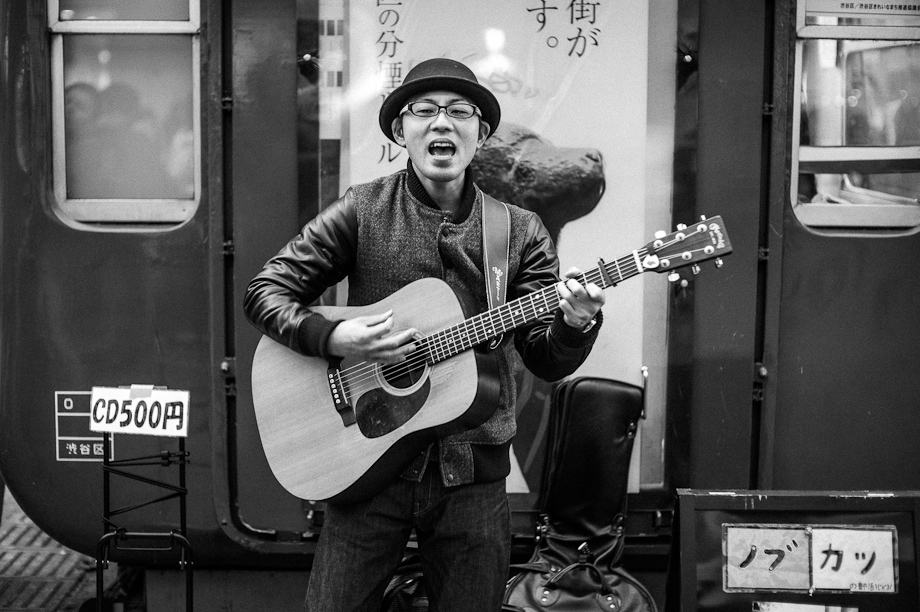 Guitar Player in Shibuya