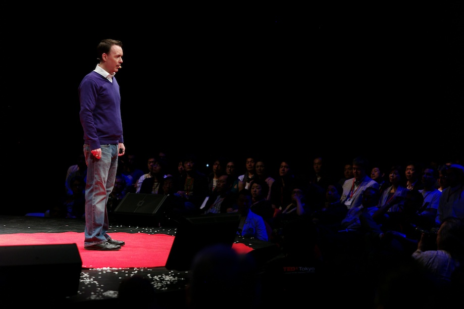 Rene Duignan speaking at TEDxTokyo 2013