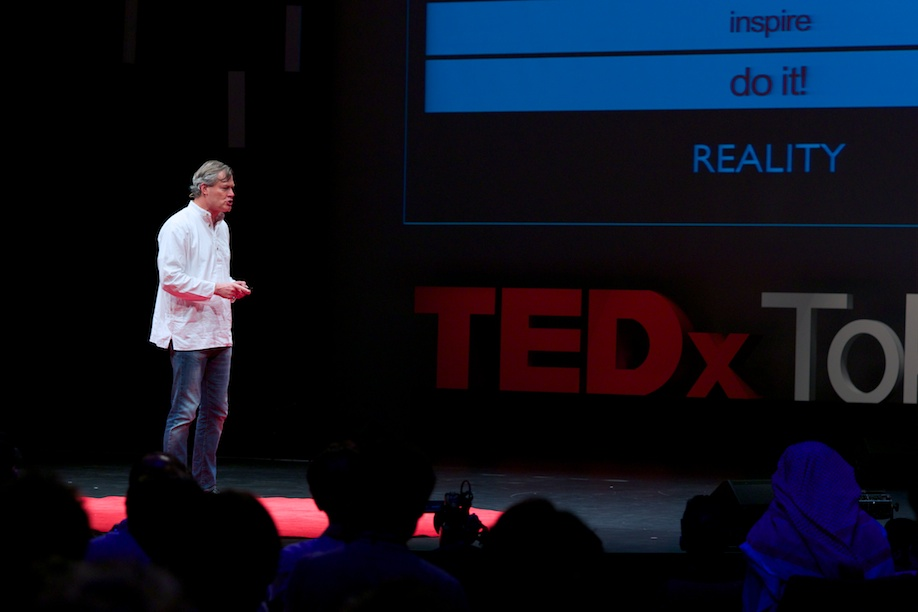 Gunter Pauli speaking at TEDxTokyo 2013