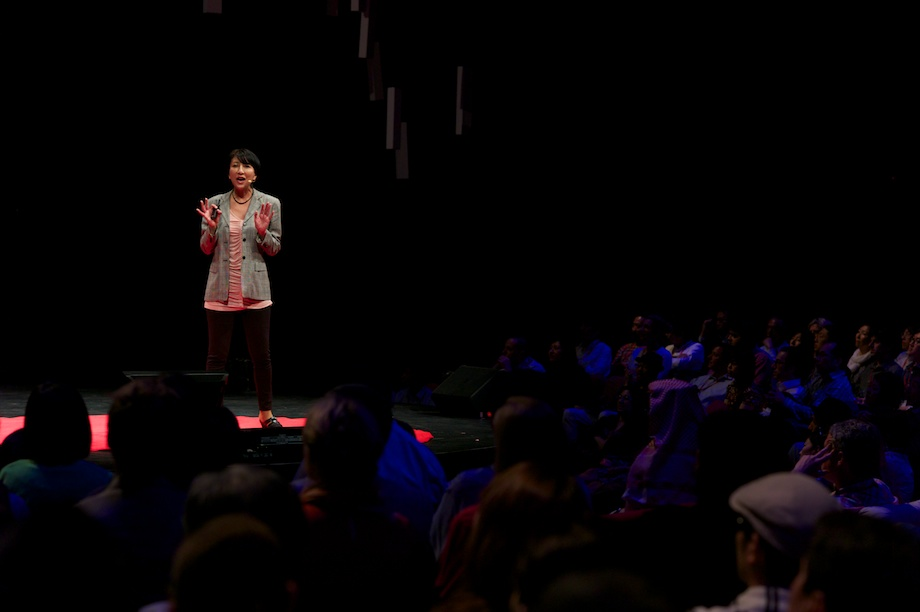 Fujiyo Ishiguro speaking at TEDxTokyo 2013