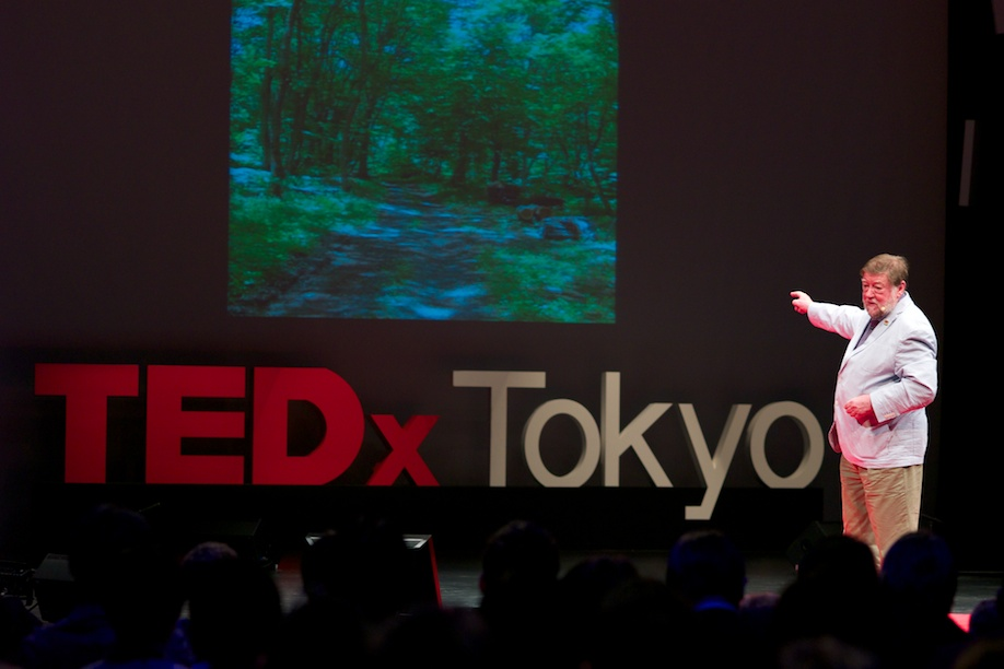 C.W. Nicol speaking at TEDxTokyo 2013