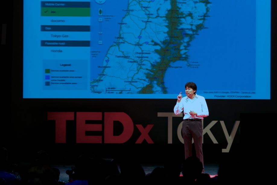 Hideto Kazawa speaking at TEDxTokyo 2013