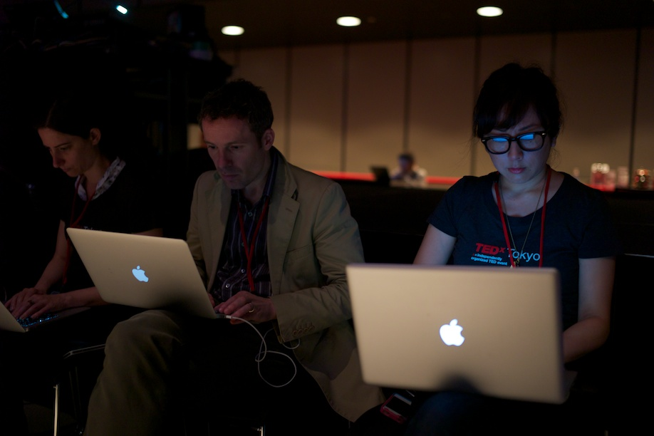 Bloggers at work at TEDxTokyo 2013