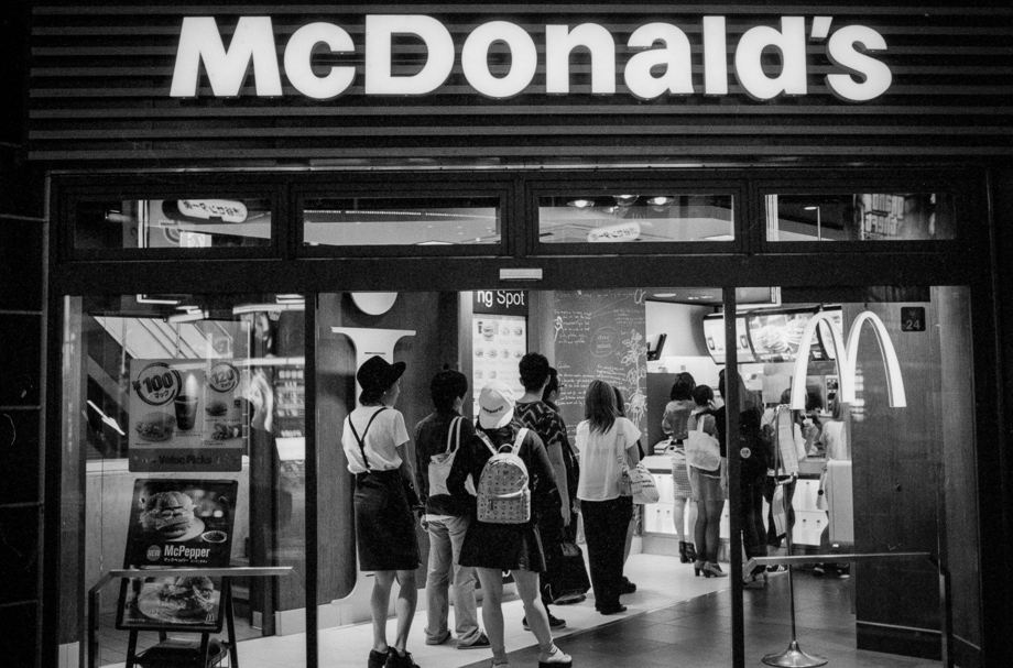 McDonald's in Shibuya shot on Delta 400@1600 with a Leica M6J