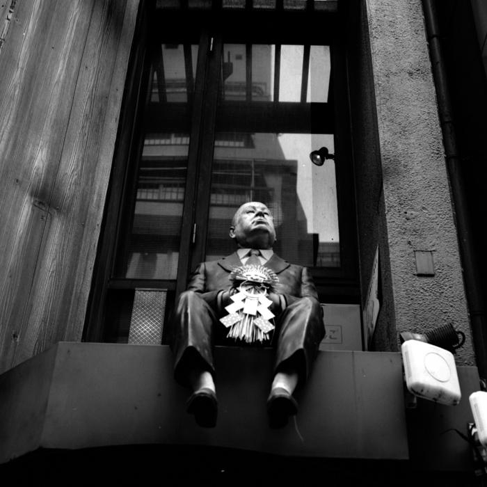 Alfred Hitchcock in Shinjuku