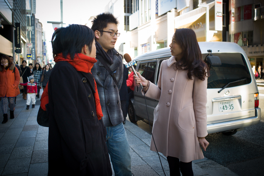 Street Interviews in Ginza