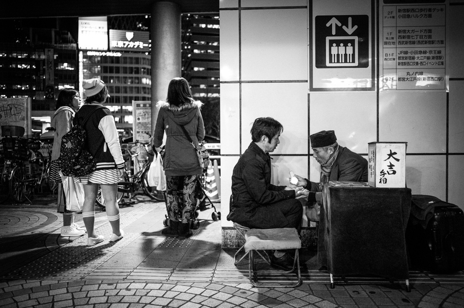 Fortune Teller in Shinjuku