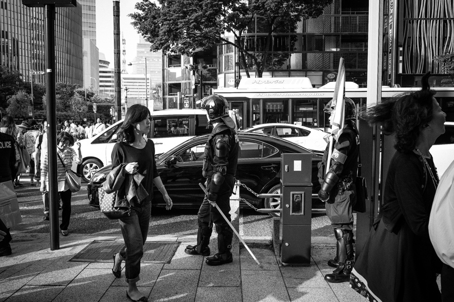 Tokyo Riot Police in Ginza