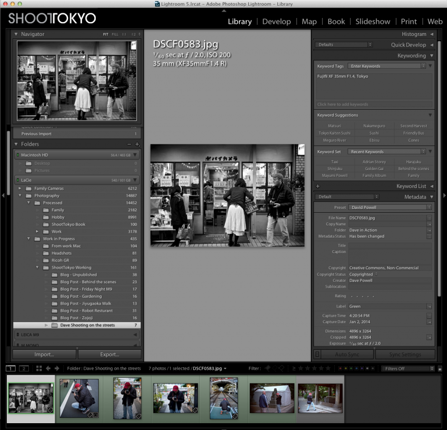 ShootTokyo's Lightroom