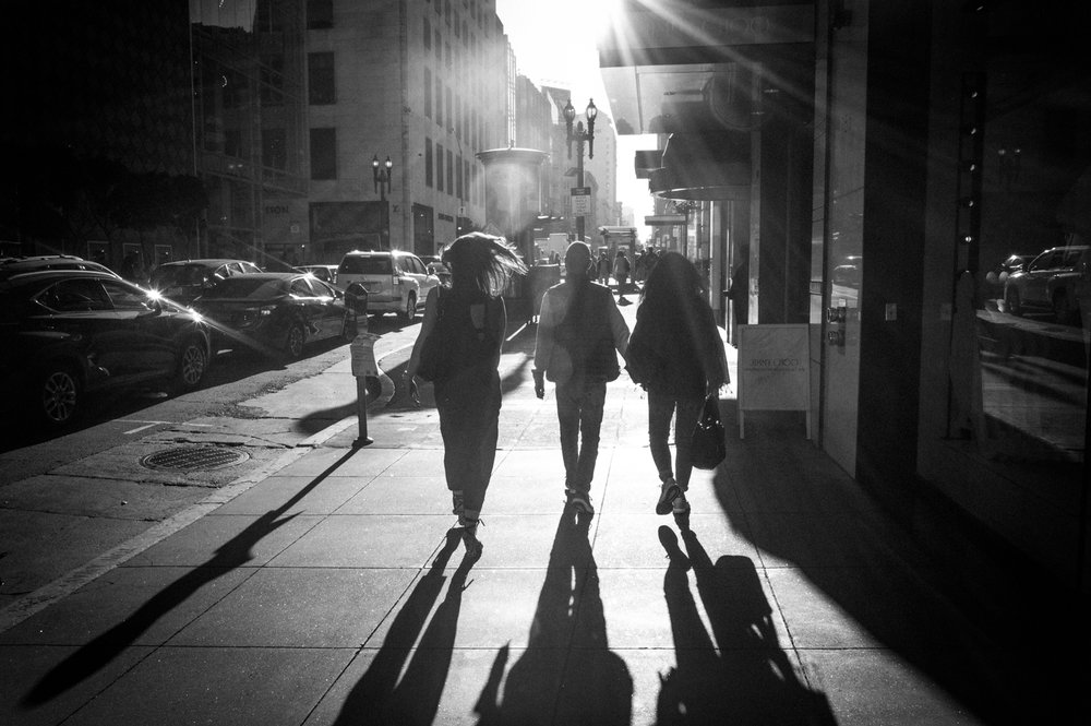 San Francisco shadows