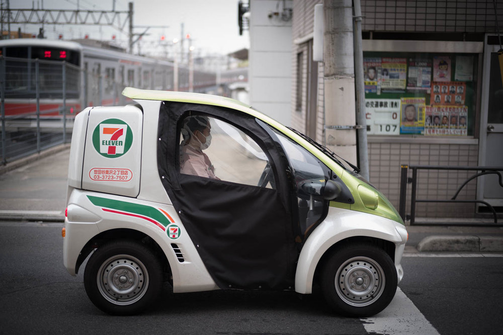 7 Eleven Electric Delivery Car