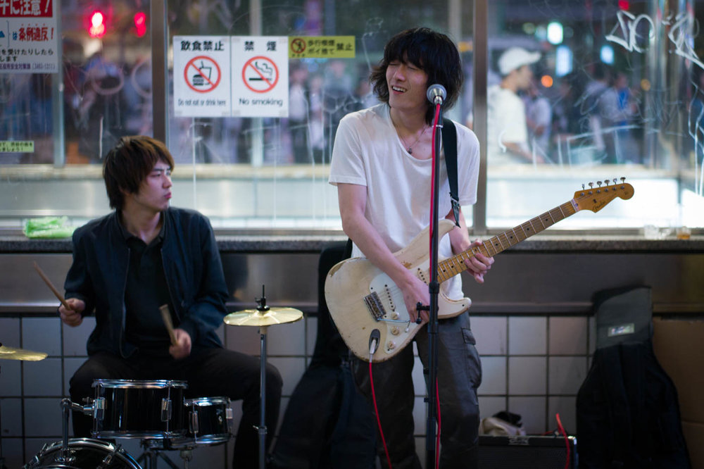 Jamming at Shibuya Station