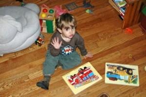 Pre-schooler in action