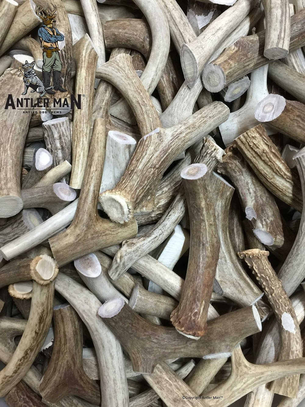 ANTLER MAN® Premium Deer Antler Pieces - Dog Chews - Antlers By The Pound