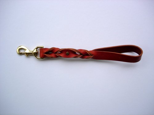 "8"" Tan Leather Hand/Seatbelt Lead"