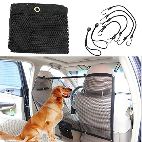Pet Car Net Barrier, Focuspet Pet Safety Travel Isolation Net Car Universal Mesh Vehicle Van Back Seat Dog Barrier Mesh 45''x24.5''