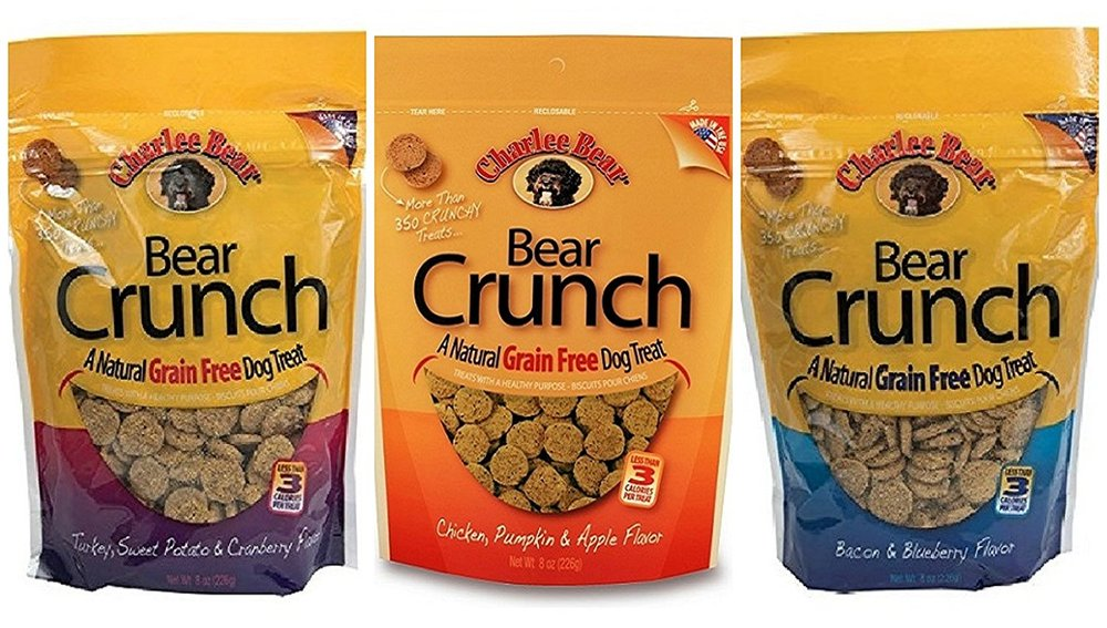 Charlee Bear Grain Free Bear Crunch Treats 3 Flavor Variety Bundle