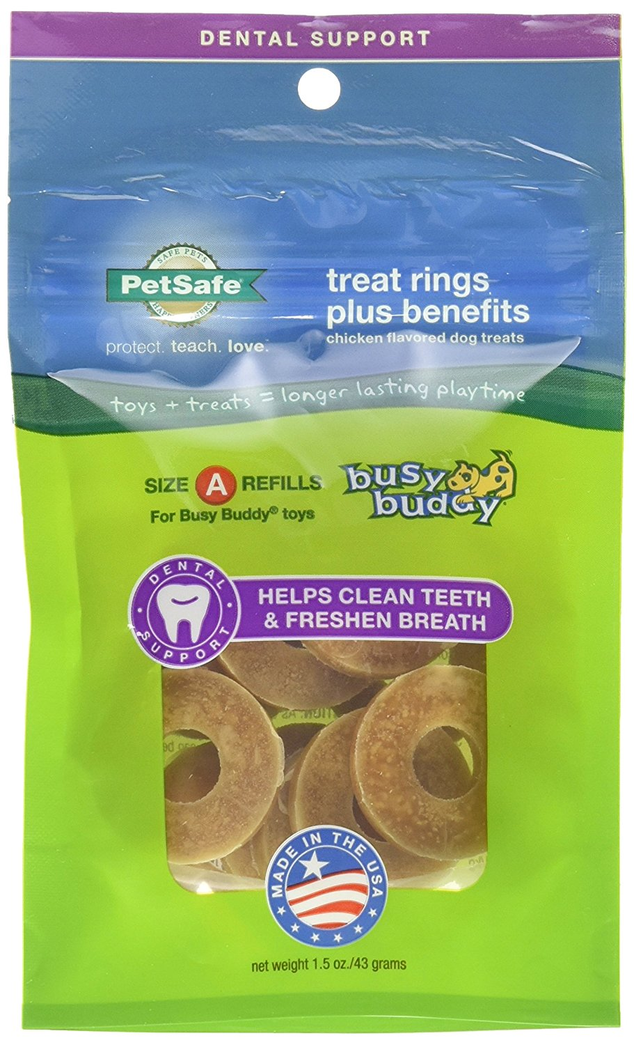 PetSafe Busy Buddy Dental Support Treat Ring Refills