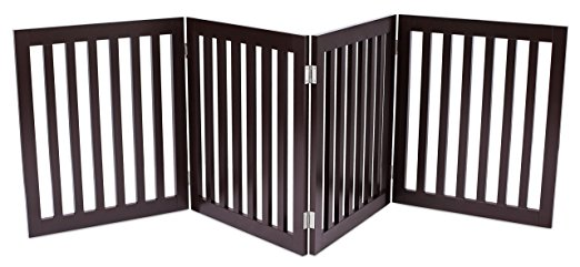 Internet's Best Traditional Pet Gate | 4 Panel | 24 Inch Step Over Fence