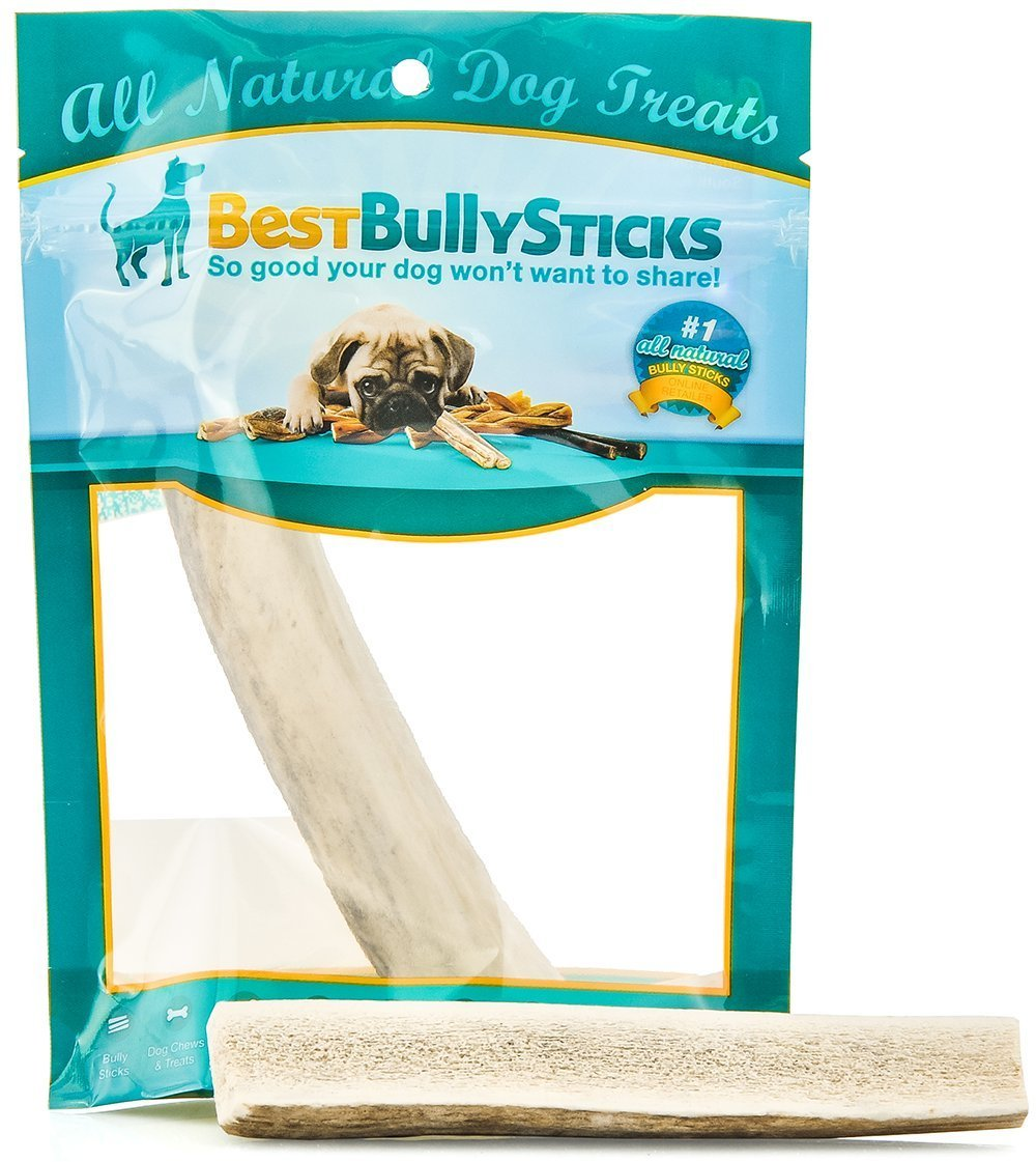 Grade-A Elk and Deer Antler Dog Chews by Best Bully Sticks (1 Pack)