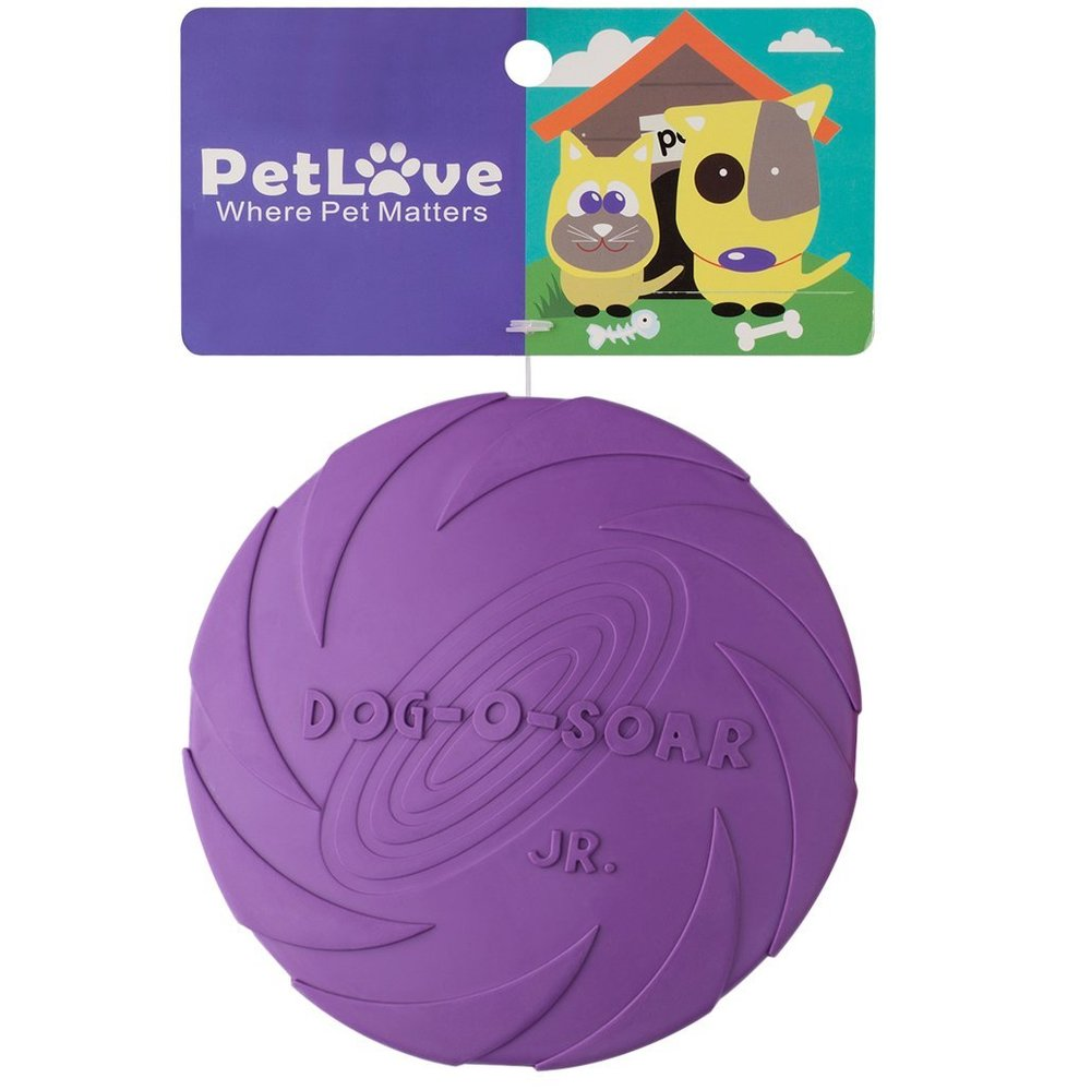 PetLove [Flying Discs Series] Flying Disc Toy for Dog - Dog Flying Disc Toy - Red