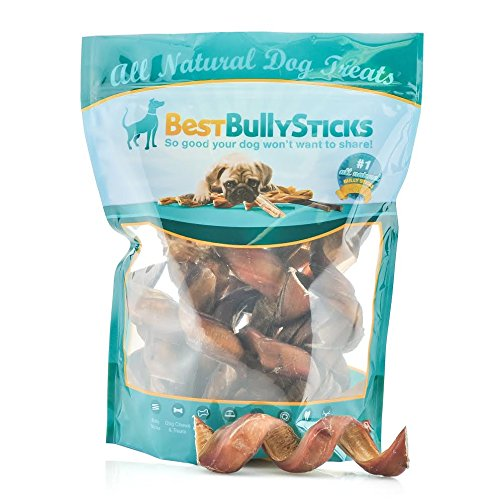 Premium Curly Bully Sticks by Best Bully Sticks (12 Pack) Made of All-Natural, Free Range, Grass Fed Beef