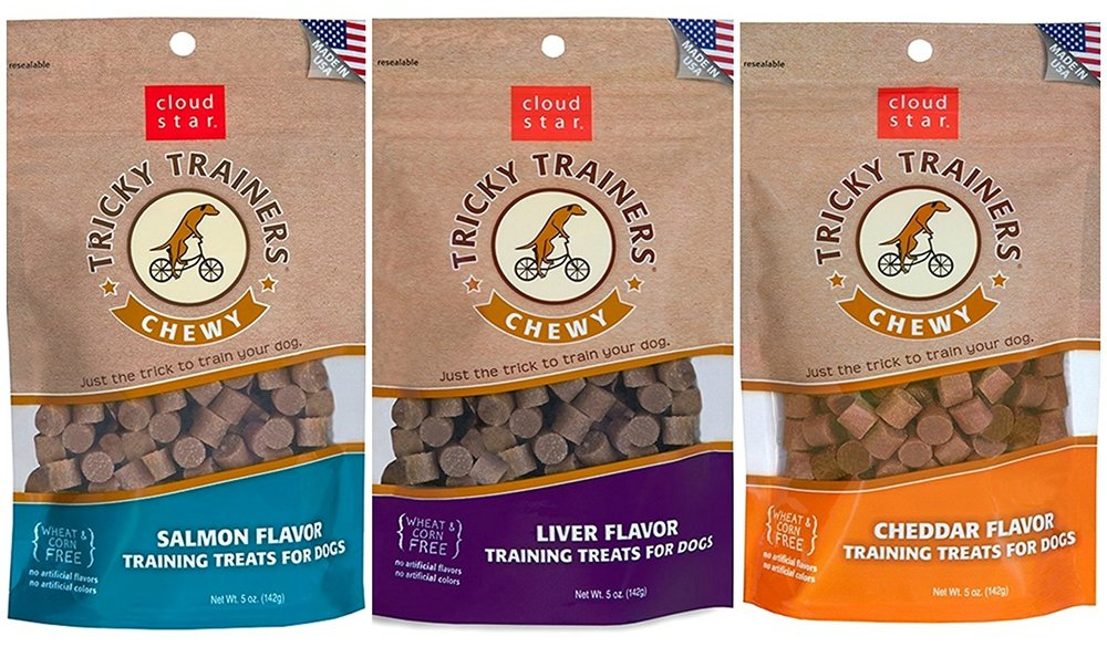 Cloud Star Chewy Tricky Trainers 3 Flavor Variety Dog Treats Bundle