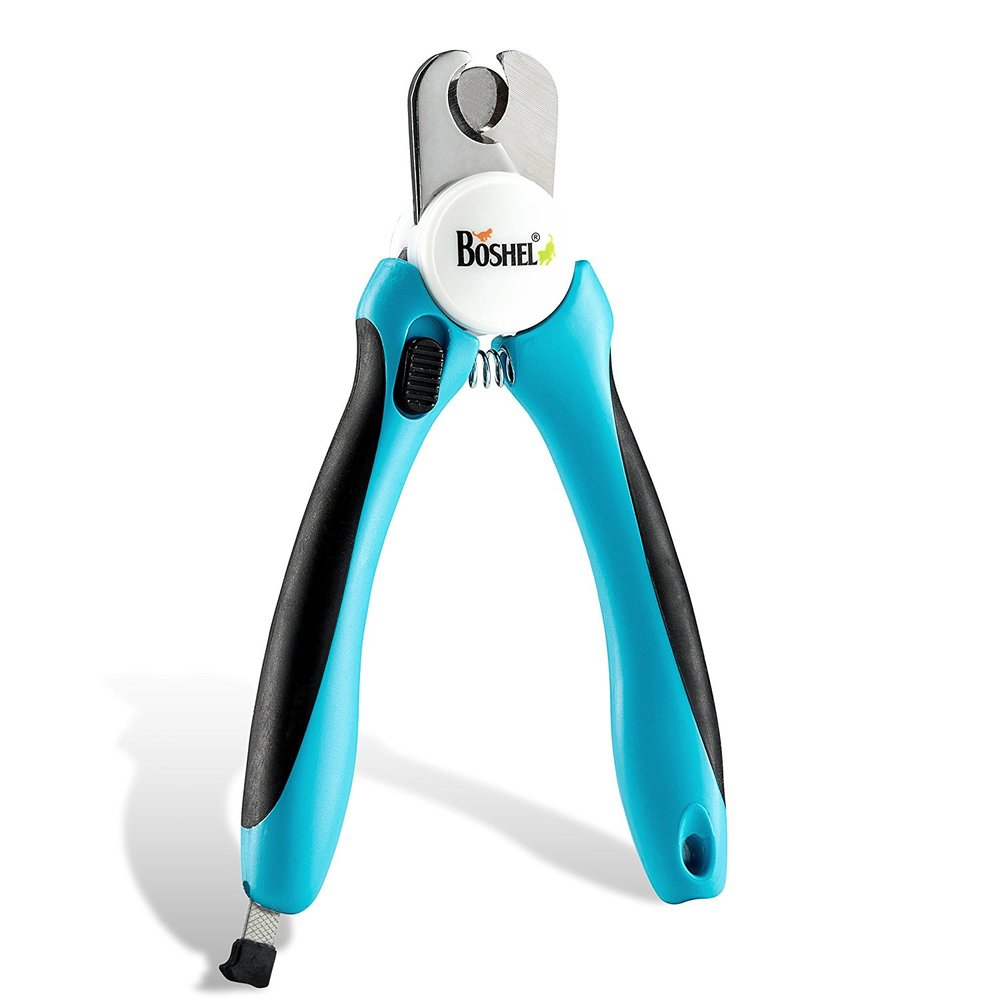 Dog Nail Clippers and Trimmer By Boshel® - With Safety Guard to Avoid Over-cutting Nails & Free Nail File - Razor Sharp Blades - Sturdy Non Slip Handles - For Safe, Professional At Home Grooming