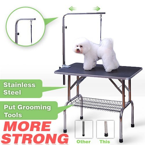 Pingkay High Quality 3 Size Pet Dog Cat Profession Dog Show Fold Grooming Table