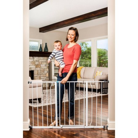 Regalo Easy Open 50 Inch Wide Baby Gate, Pressure Mount
