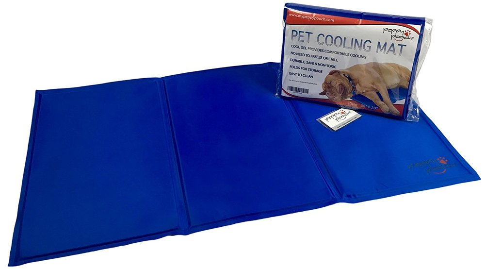 "Peppy Pooch Pet Cooling Mat - Soft Gel Comfort For Dogs. Durable, Safe, Non-Toxic & Easy To Clean. Large Size (35""x 20"")"