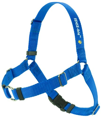 SENSE-ible No-Pull Dog Harness - Blue Medium/Large Wide
