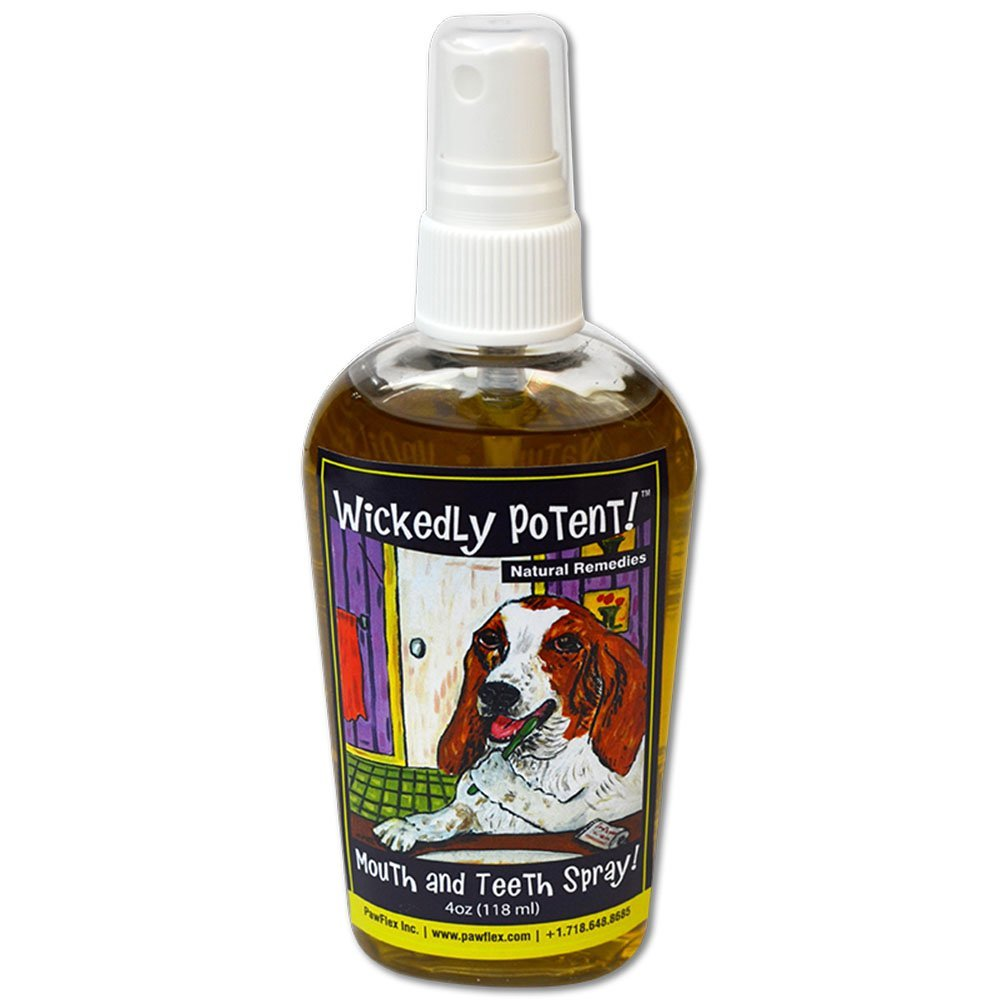 Wickedly Potent! Natural Breath Freshener Teeth and Gum for Cats & Dogs Pet Oral Care Spray