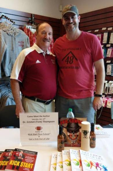 Dr. Emmet C. (Tom) Thompson II serves as Brand Ambassador for Evil Cowboy Hot Sauce. Pictured (L to R): Tom Thompson and Kurt Riddlesperger. (RDT Photography photo)