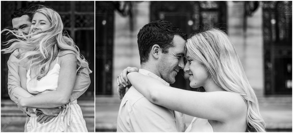 engagement photo session in boston