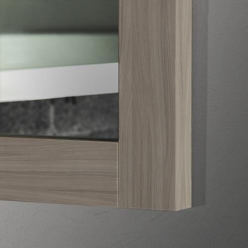 24 X 36 Driftwood Grey Thick Wood Mirror