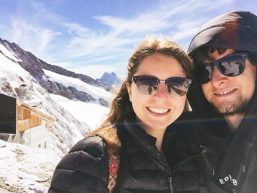 Selfie auf dem Jungfraujoch – es war kalt!