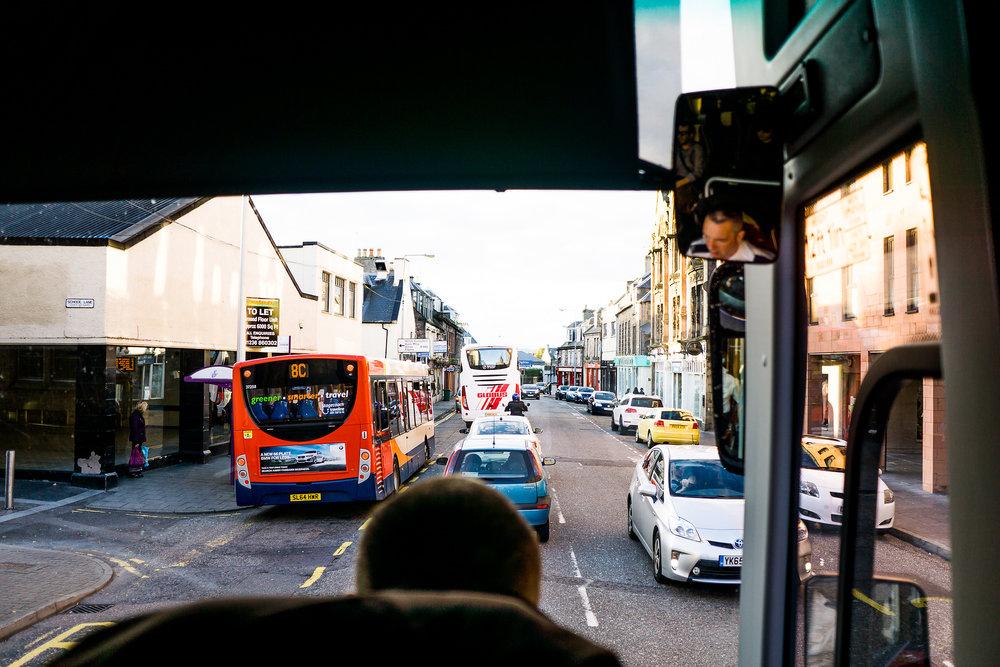 Der Start der Busfahrt!