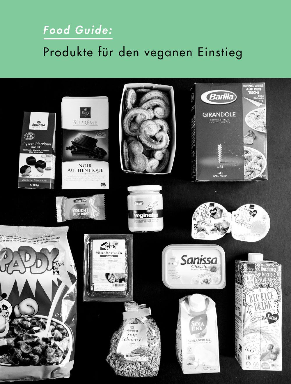 Produkte für einen veganen Einstieg