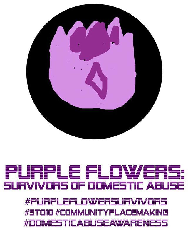 #Purpleflowersurvivor #5to10 #madeheremn #artpurpleflower #dvam #takeastand #domesticviolenceawareness