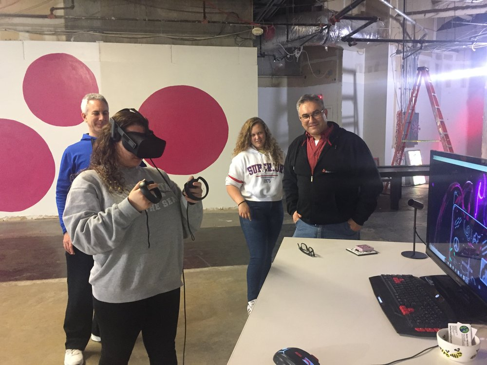 Teens loving VR!