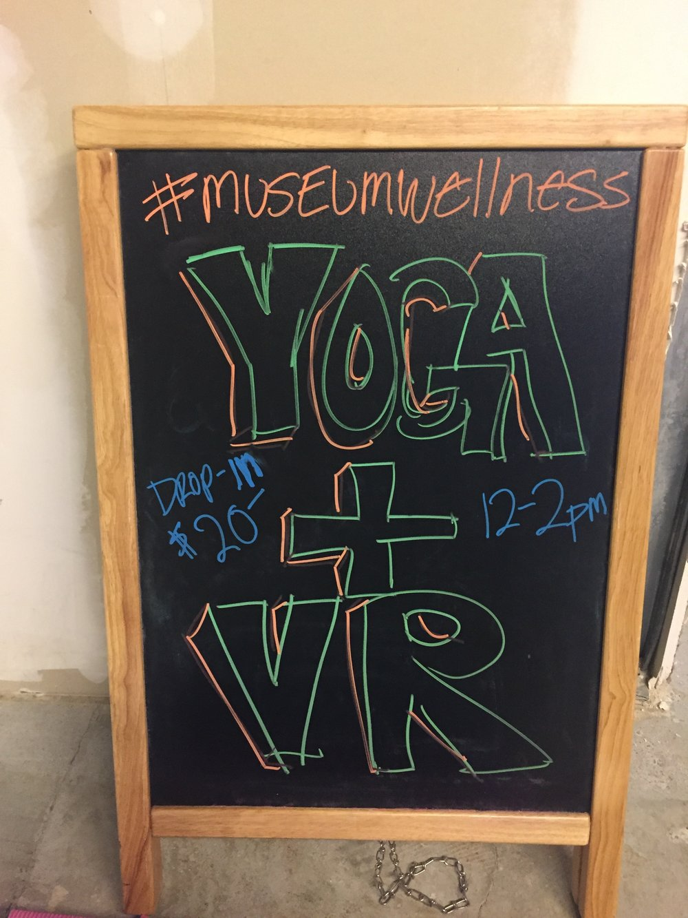 Yoga + VR was transformative... we will do this again!
