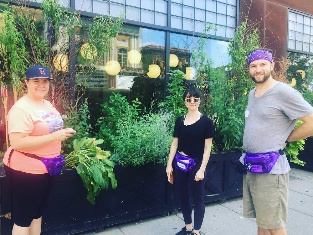The firsts Urban Edible Plant Fanny-Pack Walking Tour