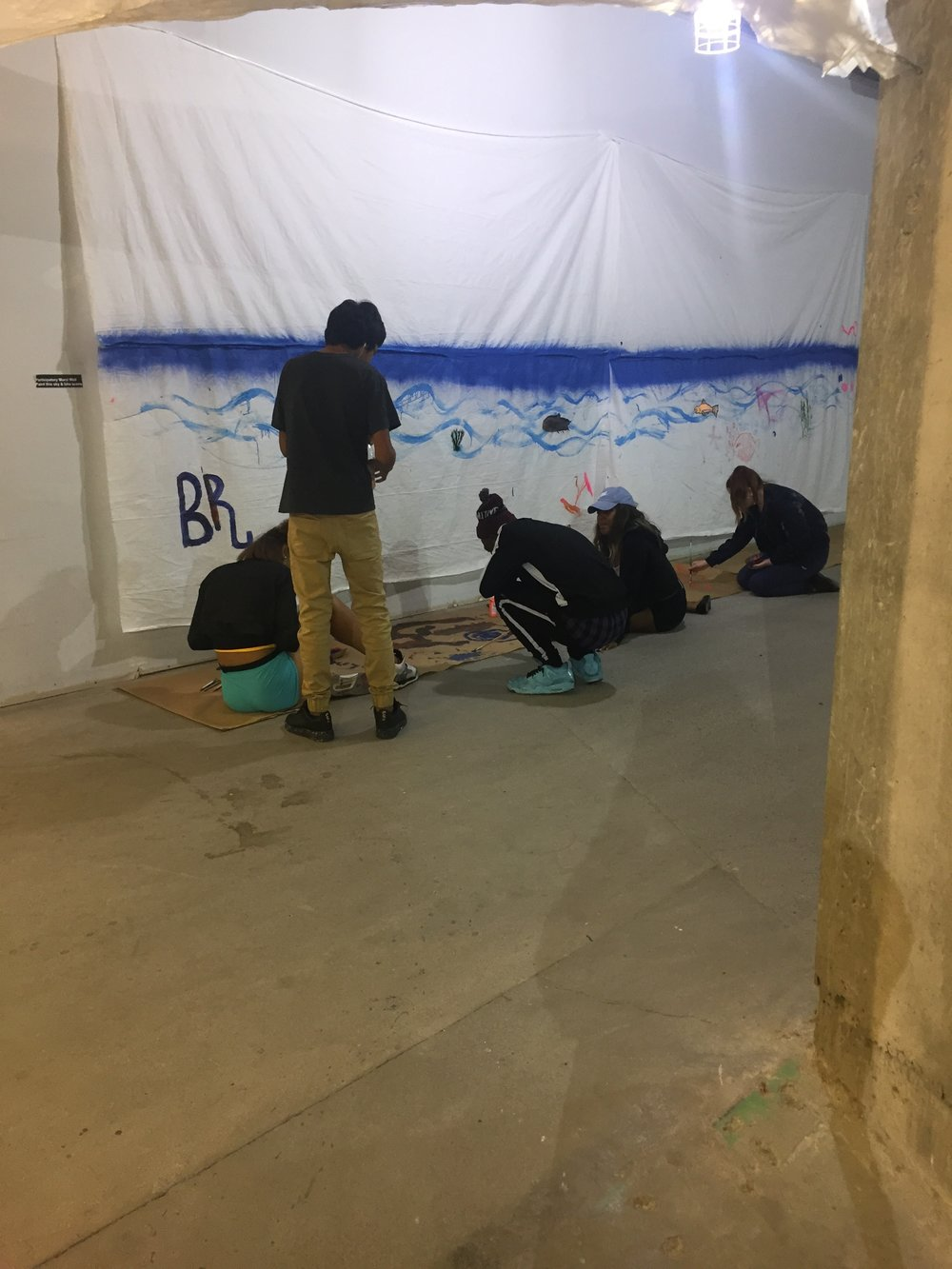 "Visitors painting in ""Bde Maka Ska"""