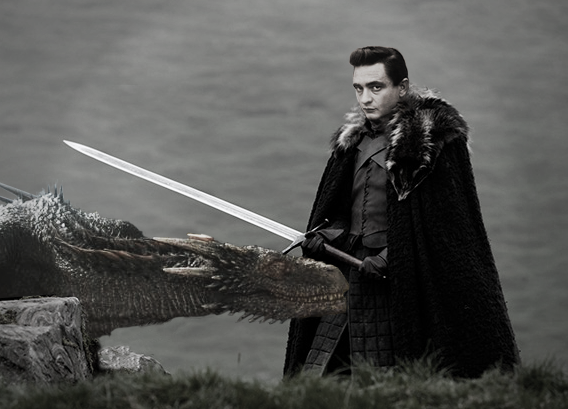 Yes, that's Johnny Cash slaying a dragon. What of it?  artwork courtesy of  Bre Duffy