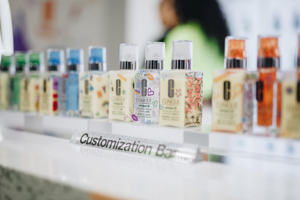Customized bottles of Clinique iD