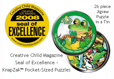 KnapZak Puzzles 2008 Creative Child Magazine Seal of Excellence