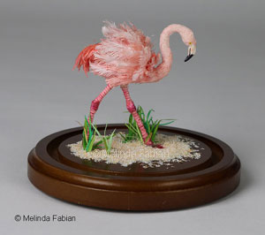 Pink Flamingo Paper Sculpture